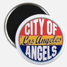 Los Angeles Vintage Label Magnet
