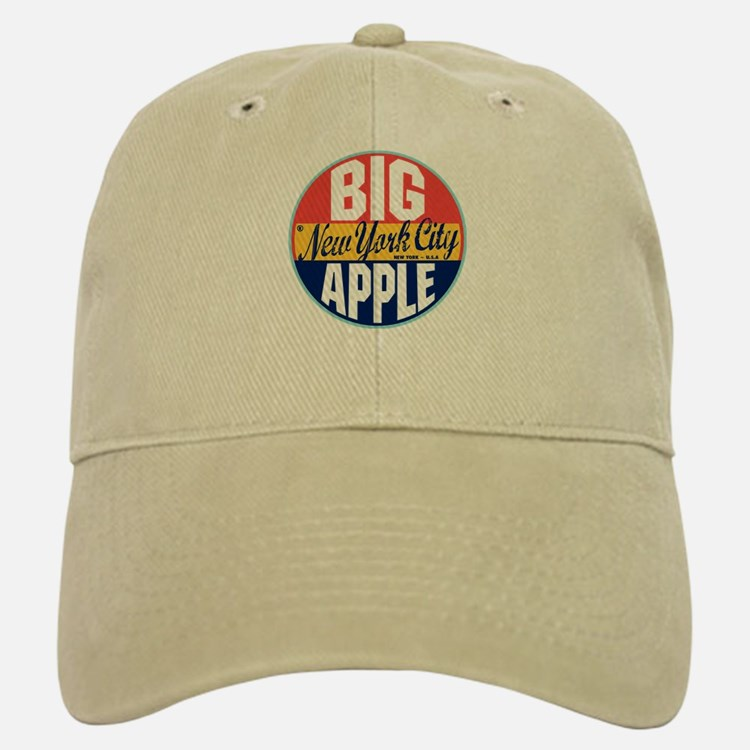 New York Vintage Label Baseball Baseball Cap