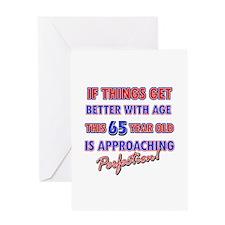 Funny 65th Birthdy designs Greeting Card