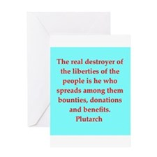 Plutarch's wisdom Greeting Card