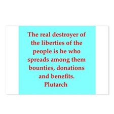 Plutarch's wisdom Postcards (Package of 8)