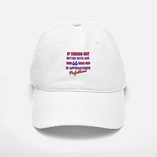 Funny 66th Birthdy designs Baseball Baseball Cap