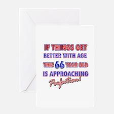 Funny 66th Birthdy designs Greeting Card