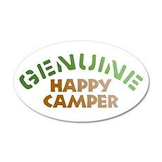 Genuine Happy Camper 22x14 Oval Wall Peel