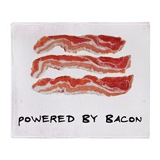 Powered By Bacon Throw Blanket