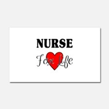 Nurse For Life Car Magnet 20 x 12
