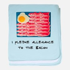 Allegiance To the Bacon baby blanket