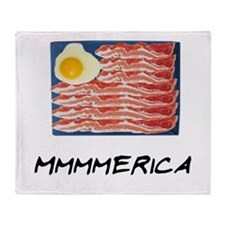 Mmmmerica Throw Blanket
