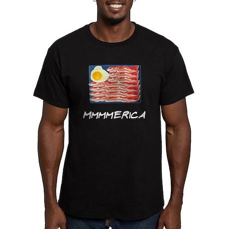Mmmmerica Men's Fitted T-Shirt (dark)