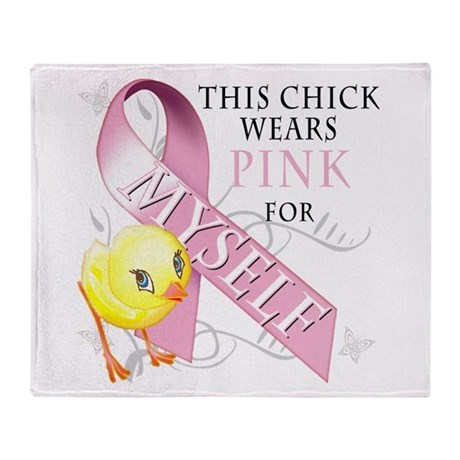 This Chick Wears Pink for Mys Throw Blanket