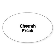 Cheetah Freak Oval Decal
