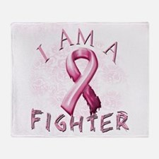 I Am A Fighter Throw Blanket