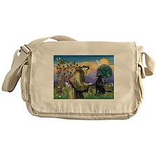 St. Fran/ Flat Coated Ret Messenger Bag
