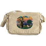 St Francis #2/ Fox Terrier Messenger Bag