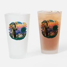 St.Francis #2/ Fr Bulldog (3) Drinking Glass