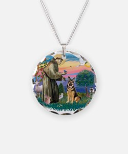 St.Francis #2/ Ger Shep (W) Necklace