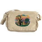 St.Francis #2/ Ger Shep (W) Messenger Bag