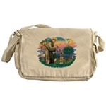 St.Francis #2/ German Shep (P Messenger Bag