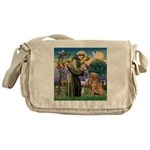 Saint Francis' Golden Messenger Bag