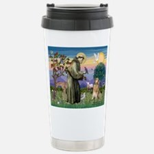 St Francis Golden Travel Mug