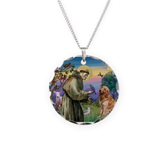St Francis & Golden Necklace