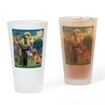 St Francis & Golden Drinking Glass