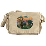 St.Fran. #2/ Great Dane (nat) Messenger Bag