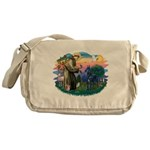 St.Francis #2/ Great Dane (bl Messenger Bag