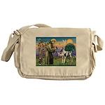 St. Francis & Great Dane Messenger Bag