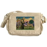 Saint Francis' Great Dane Messenger Bag