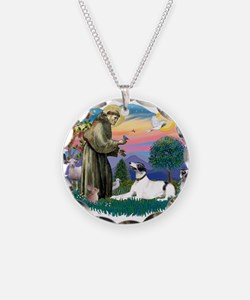 St.Francis #2/ Greyhound Necklace