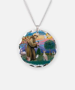 St.Francis #2/ Ital Grey (f) Necklace