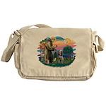 St Francis #2/ Spinone Messenger Bag