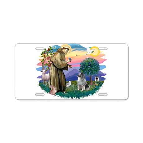 St Francis #2 / Keeshond Aluminum License Plate