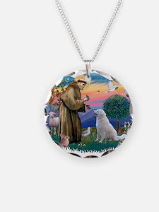 St Francis #2/ Kuvacz Necklace