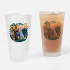 St Francis #2/ Kuvacz Drinking Glass