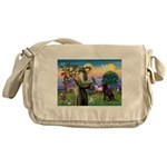 St Francis Chocolate Lab Messenger Bag