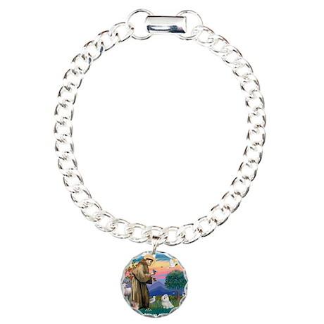 St.Francis #2/ Maltese #7 Charm Bracelet, One Char