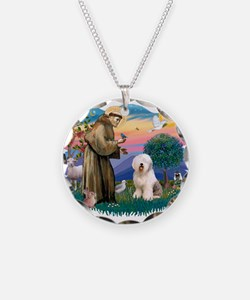 St.Francis #2/ Old English (# Necklace