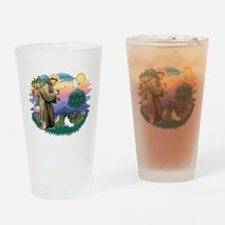 St. Francis #2 / Papillon Drinking Glass