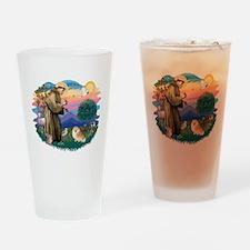 St.Francis #2/ Pomeranian (r) Drinking Glass