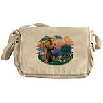 St.Francis #2/ Pomeranian (T Messenger Bag