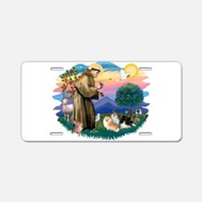 St.Francis #2/ Pomeranian(3) Aluminum License Plat