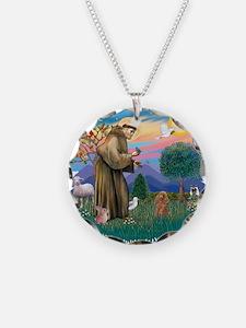 St.Francis #2/ Poodle (Toy A) Necklace