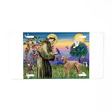 St Francis / Std Poodle(a) Aluminum License Plate