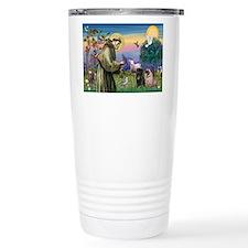 Saint Francis & Two Pugs Travel Mug