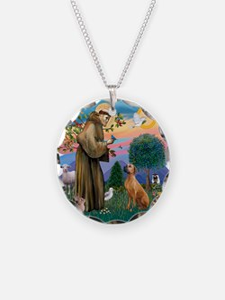 St Francis #2/ R Rback #2 Necklace Circle Charm