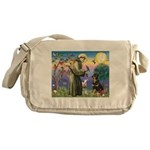St Francis / Rottweiler Messenger Bag