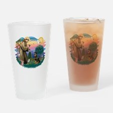 St Francis #2 / Rottweiler Drinking Glass