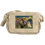 St Francis & Samoyed Messenger Bag